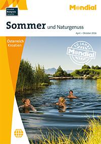 Sommer und Naturgenuss Katalog Cover